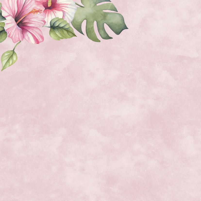 Verjaardag tropische bloemen 2