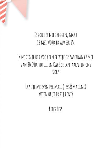 Verjaardag uitnodiging lijst 3