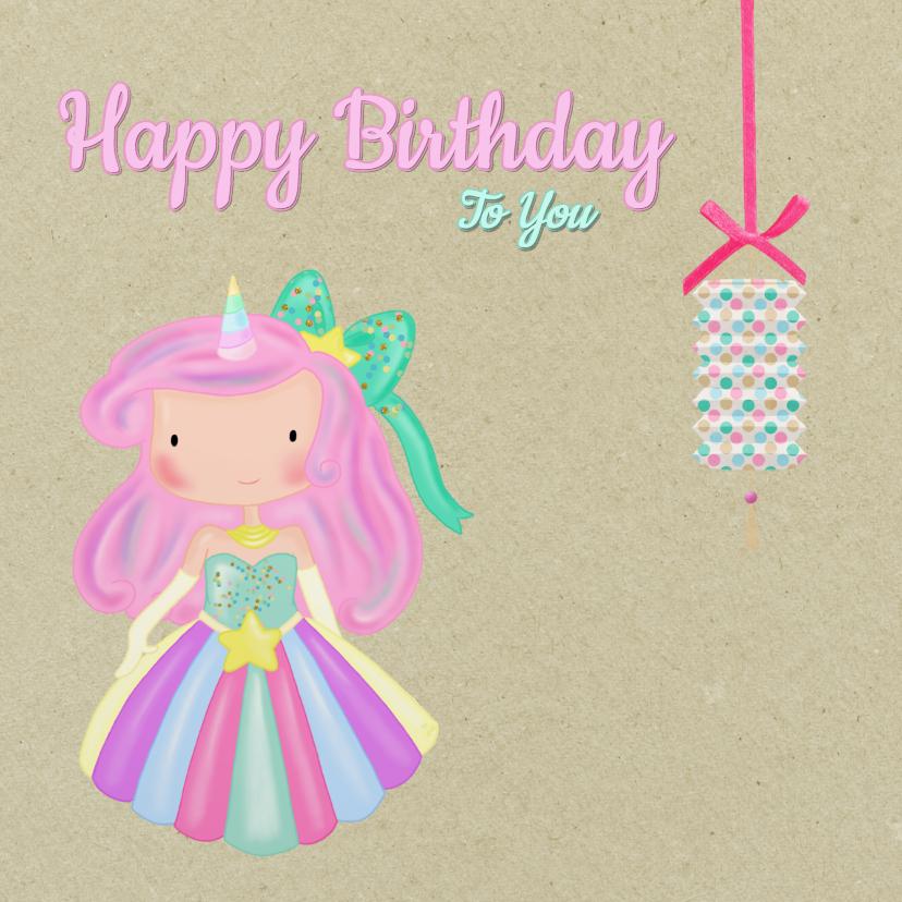 Verjaardag Unicorn Prinses