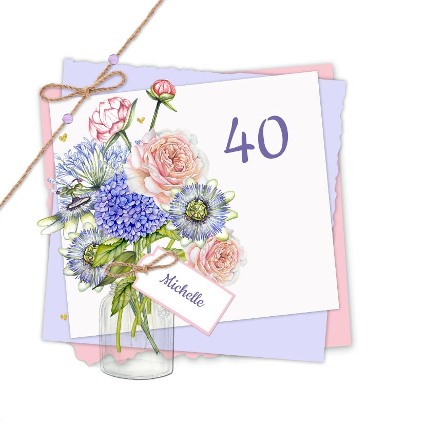 Verjaardag vaas bloemen 2