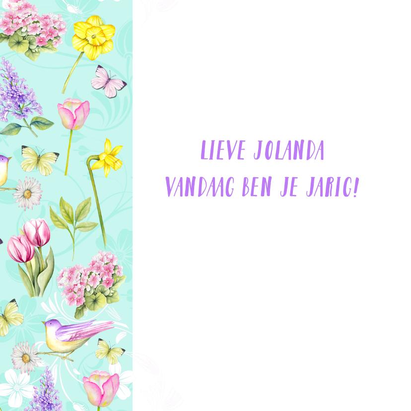 Verjaardag voorjaarsbloemen 2