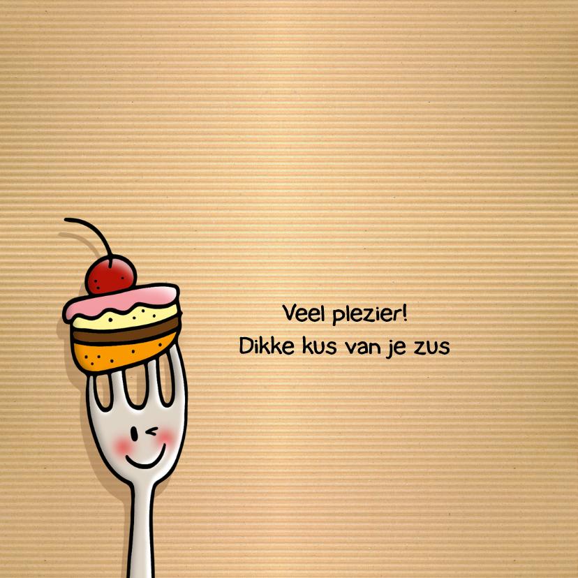 Verjaardag vorkjes met taart 2
