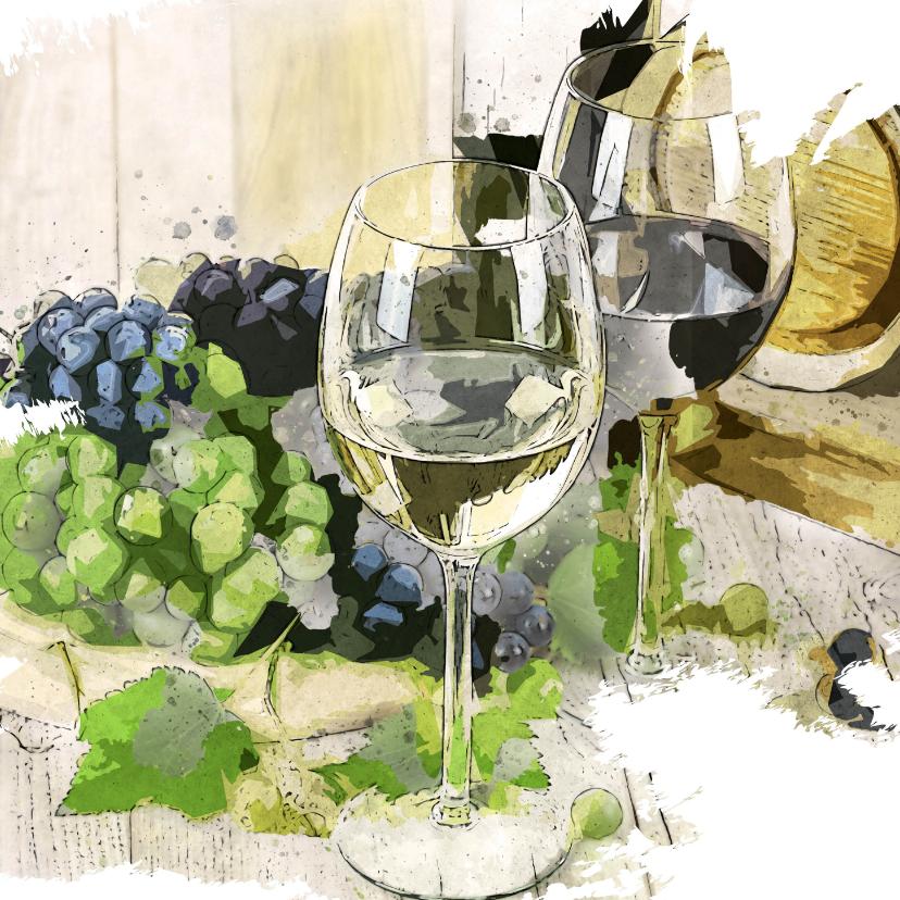Verjaardag wine is a girl's best friend 2