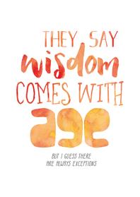 Verjaardagskaarten - Verjaardag Wisdom