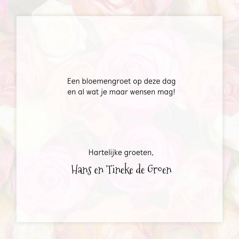 Verjaardagkaart rozen en lint 3