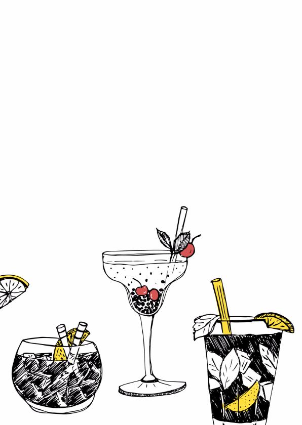 Verjaardagsfeest cocktails krijt 2