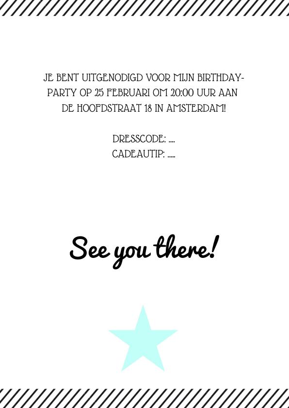 Verjaardagsfeest uitnodiging affiche mint 3