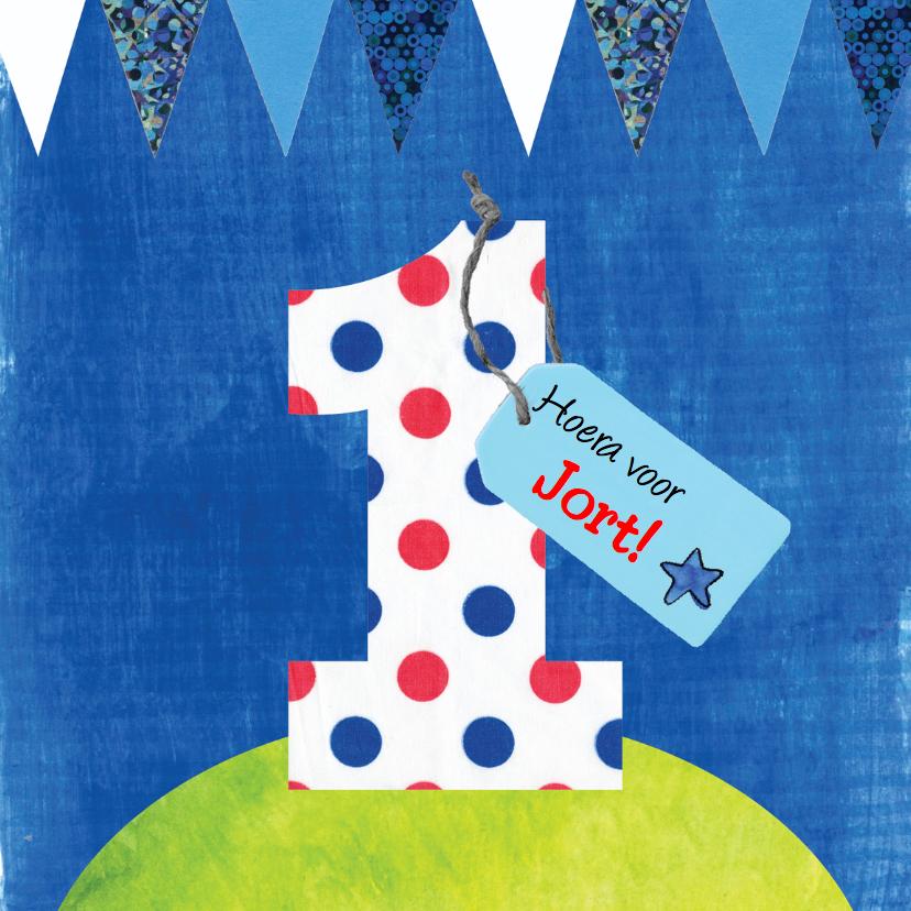 Verjaardagskaart 1 jaar jongen verjaardagskaarten for Poppenhuis kind 2 jaar
