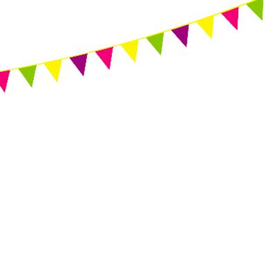 Verjaardagskaart 10 met vlaggen 2