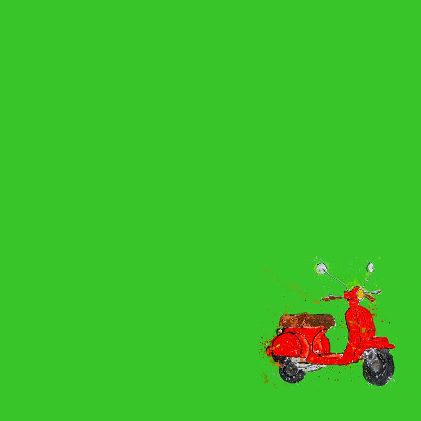Verjaardagskaart 16 jaar met scooter 3