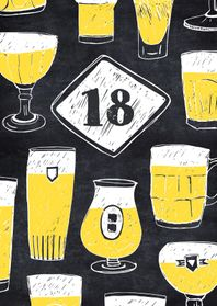 Verjaardagskaarten - Verjaardagskaart 18 jaar bier