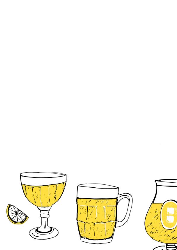 Verjaardagskaart 18 jaar bier 2