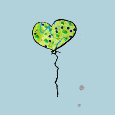 Verjaardagskaart 2 jaar ballon 2