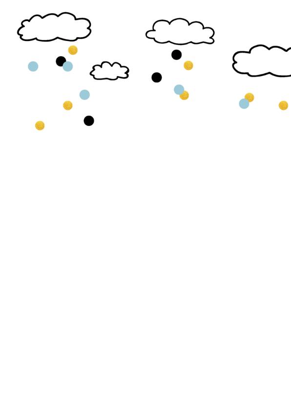 Verjaardagskaart 3 jaar luchtballon goud kleurig 2