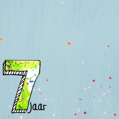 verjaardagskaart 7 jaar jongen 2
