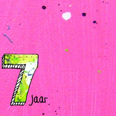 Verjaardagskaart 7 jaar meisje 2