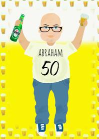 Verjaardagskaarten - Verjaardagskaart Abraham PA