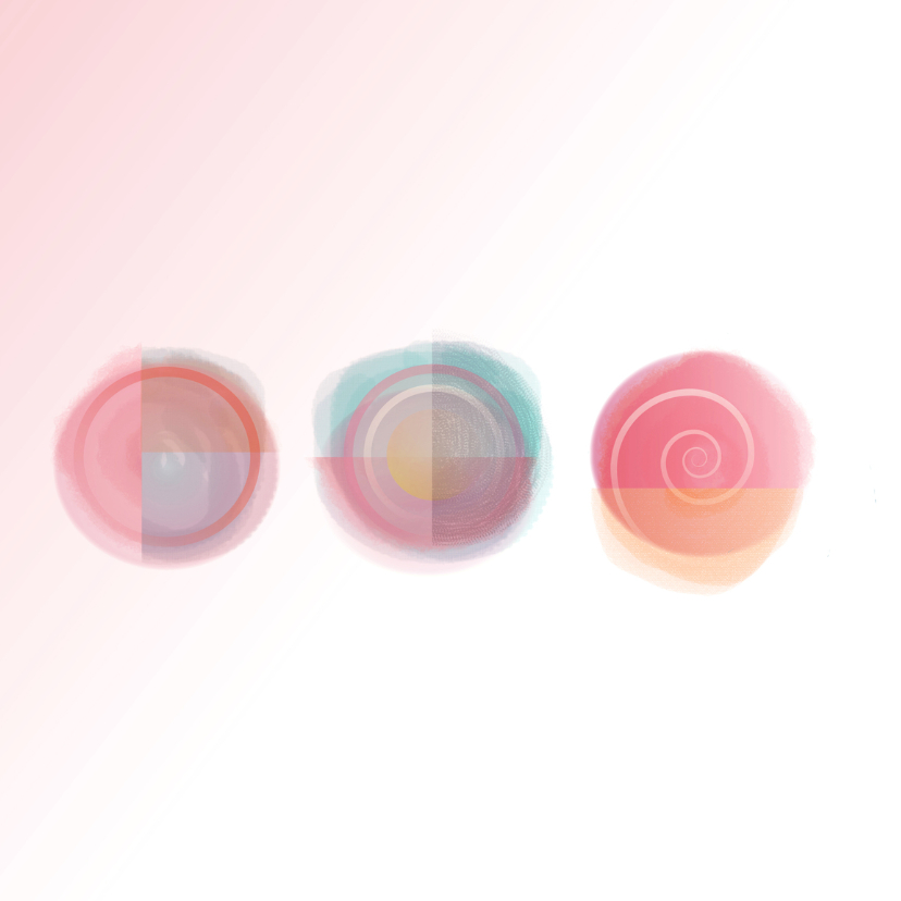 Verjaardagskaart Abstact Sun Pink  2
