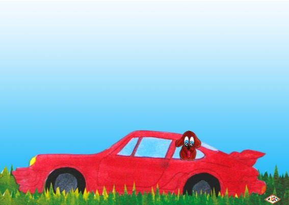 Verjaardagskaart Auto PA 3