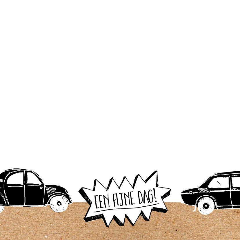 Verjaardagskaart auto's met leeftijd 2
