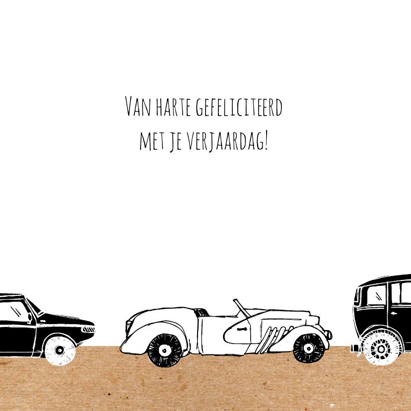 Verjaardagskaart auto's met leeftijd 3