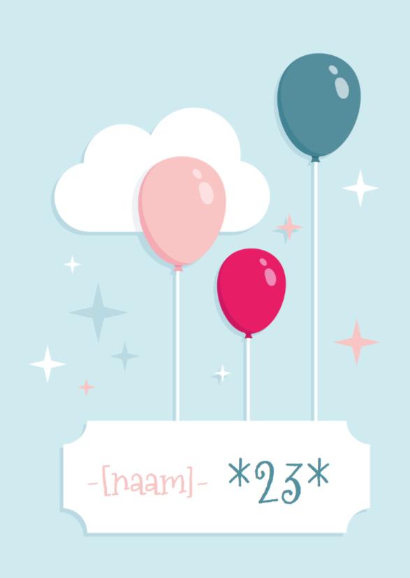 Verjaardagskaart Ballonnen Hip  2