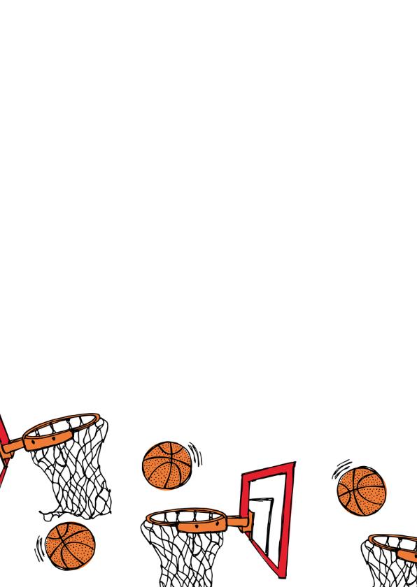 Verjaardagskaart basketbal 2