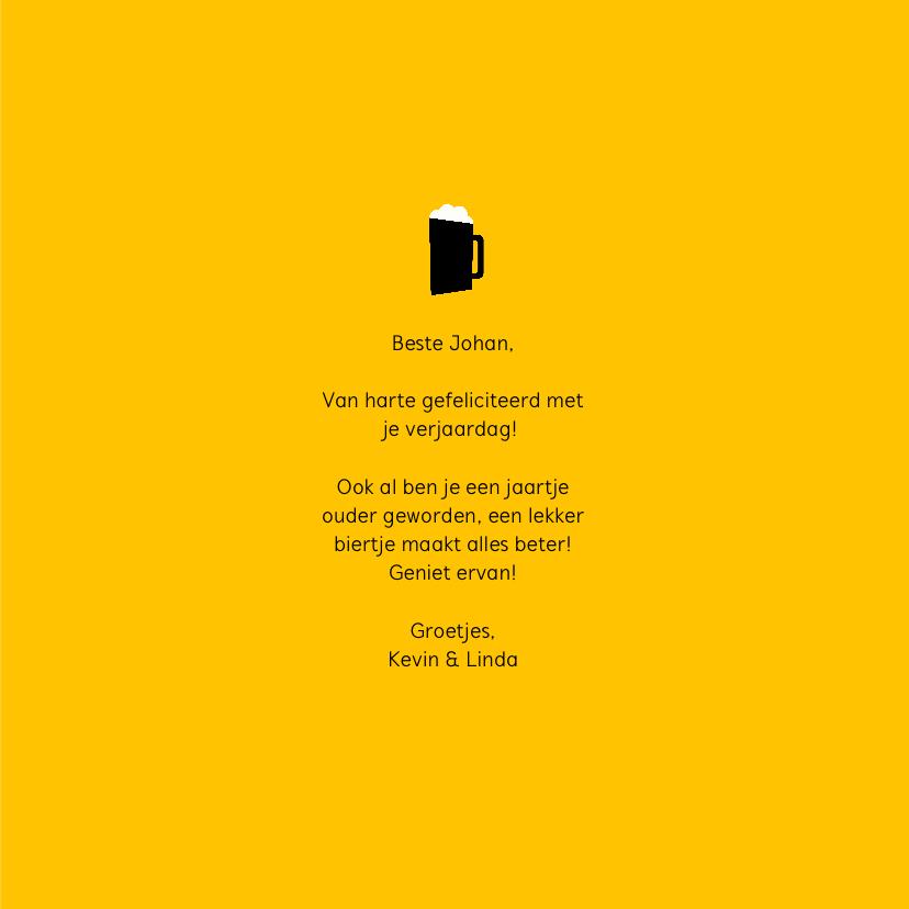 Verjaardagskaart  'Beer makes everything better' 3