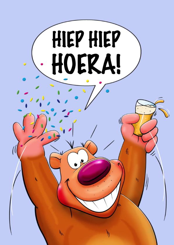 Verjaardagskaart berefijne dag met 3 beren met glazen bier 2