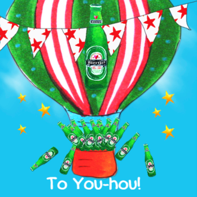 Verjaardagskaart Bier Ballon PA 2