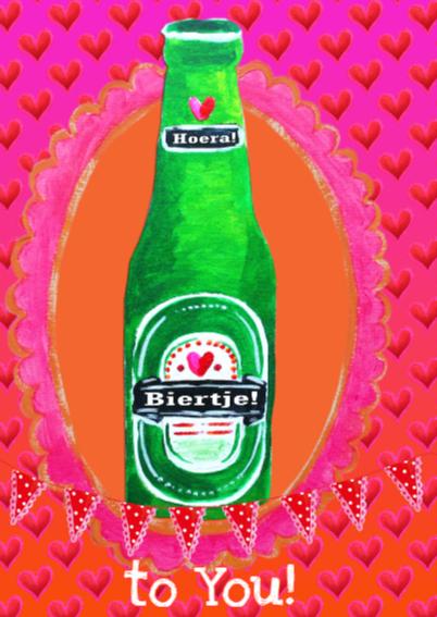 Verjaardagskaart Bier Vrouw PA 2