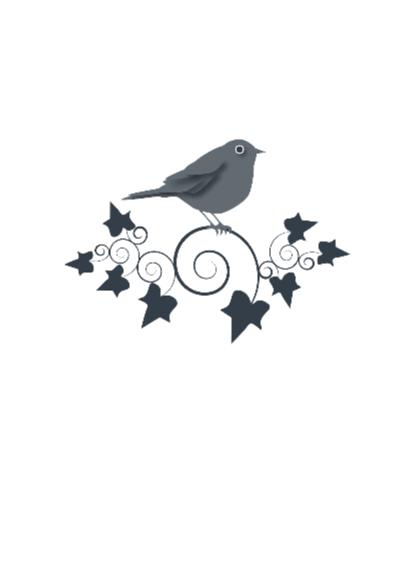 Verjaardagskaart  Bird Ivy Gray 2