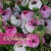 Verjaardagskaarten - Verjaardagskaart bloem confetti