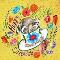 Verjaardagskaarten - Verjaardagskaart Bloemen Lente