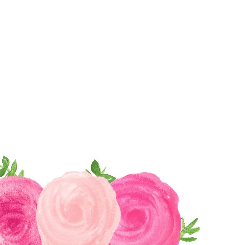 Verjaardagskaart bloemen - SU 2