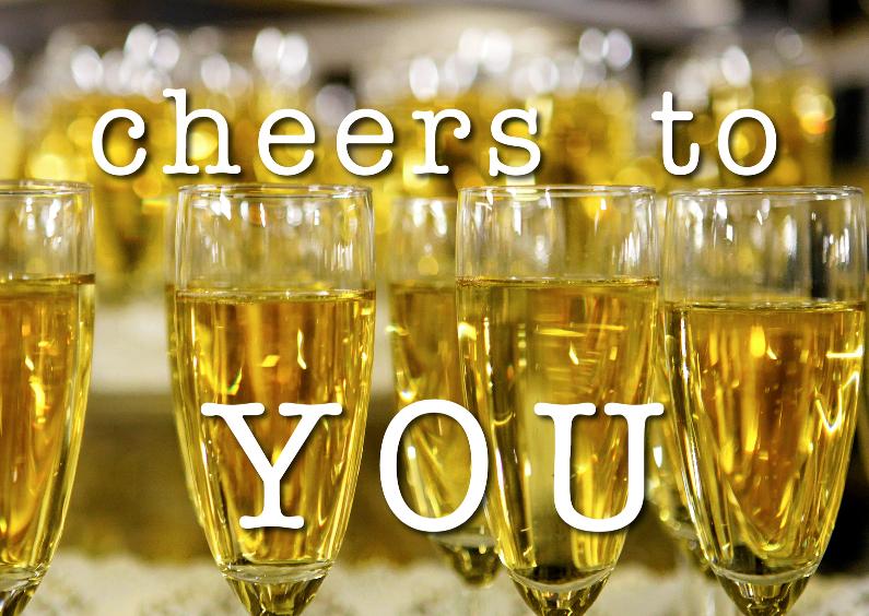 Verjaardagskaart Cheers To You Verjaardagskaarten Afbeeldingen Champagne