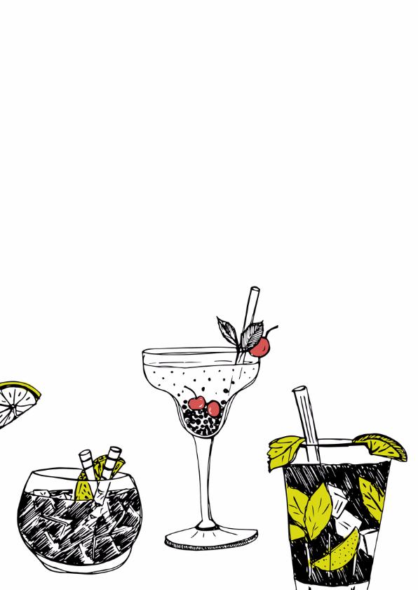 Verjaardagskaart cocktails krijt 2