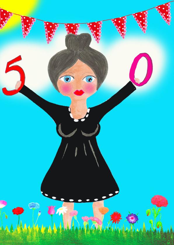 Verjaardagskaart Corly 50 PA 2