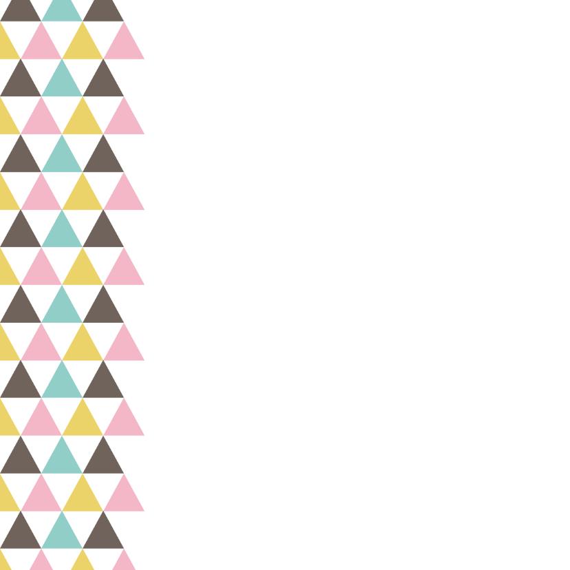 Verjaardagskaart driehoek 2