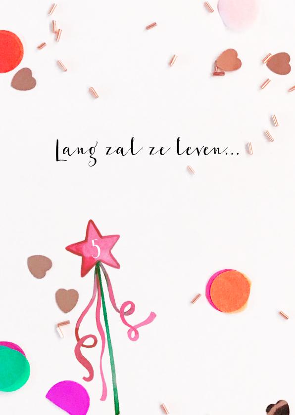 Verjaardagskaart felicitatie toverstaf confetti 2