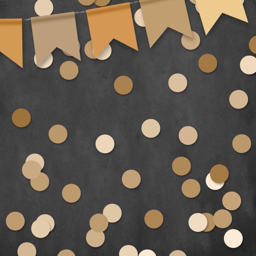 Verjaardagskaart foto confetti en krijtbord 2