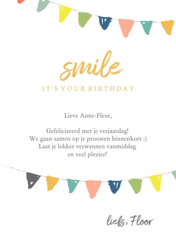 Verjaardagskaart - foto slingers 3