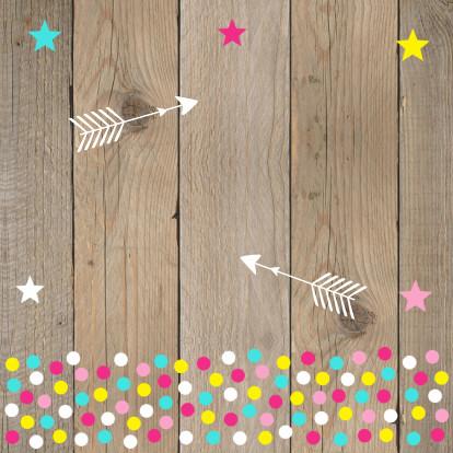 Verjaardagskaart fotocollage meisje confetti 2