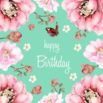 Verjaardagskaart Frisse bloemen