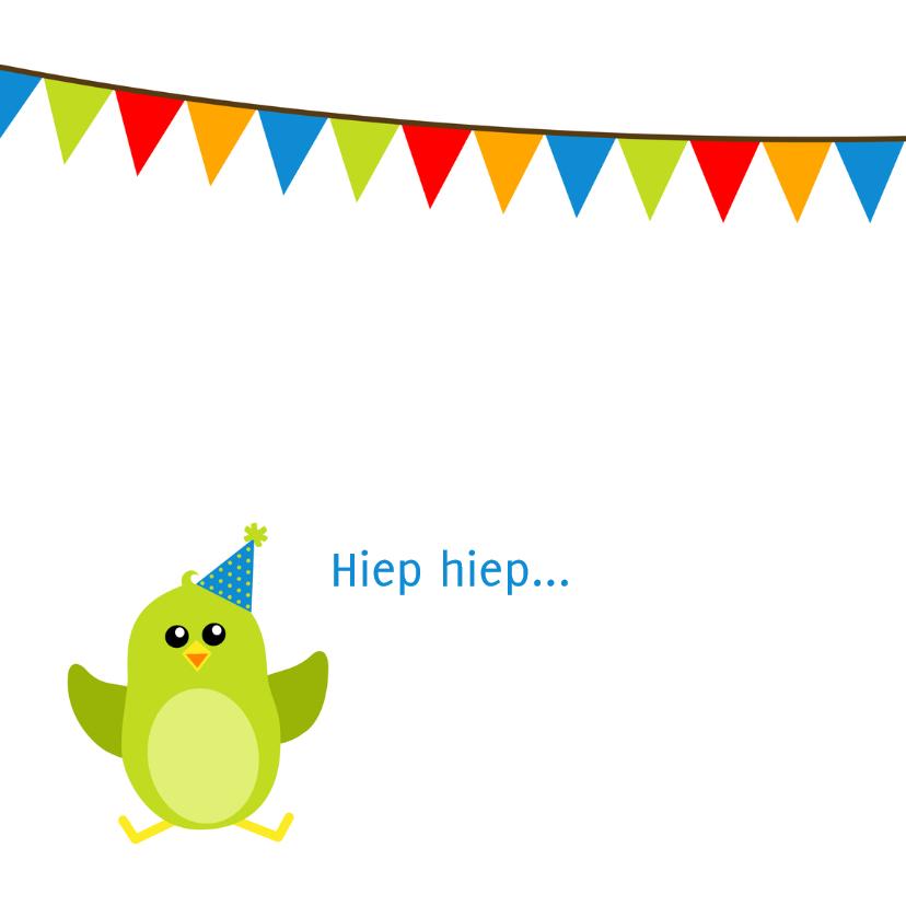 verjaardagskaart groen vogeltje in vogelhuisje - DD 2