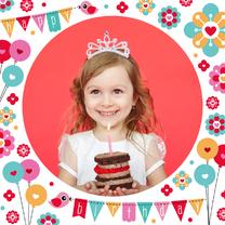 Verjaardagskaart grote foto - DH