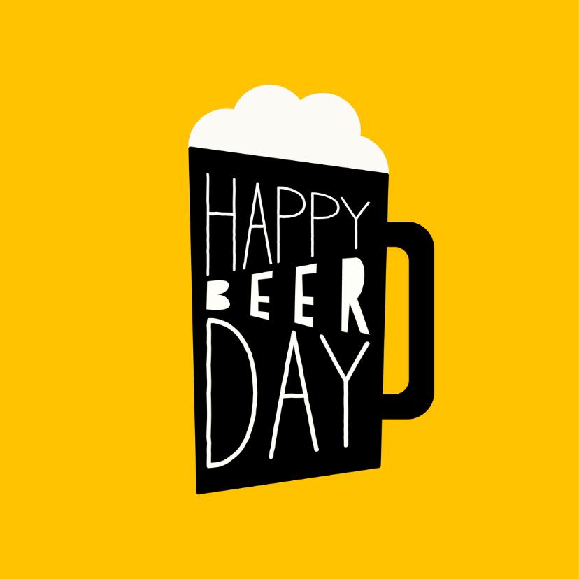 Verjaardagskaart 'Happy Beerday' 2