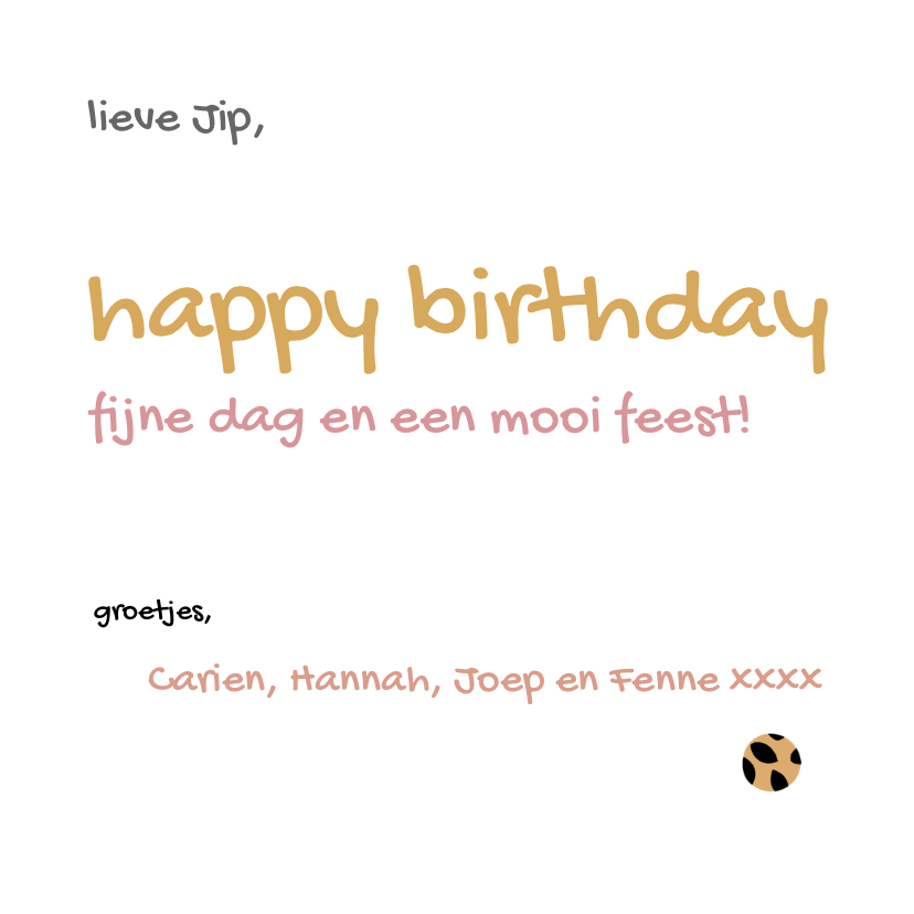 Verjaardagskaart happy birthday met patroon 3