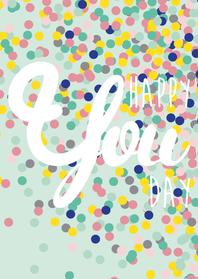 Verjaardagskaarten - Verjaardagskaart Happy you day