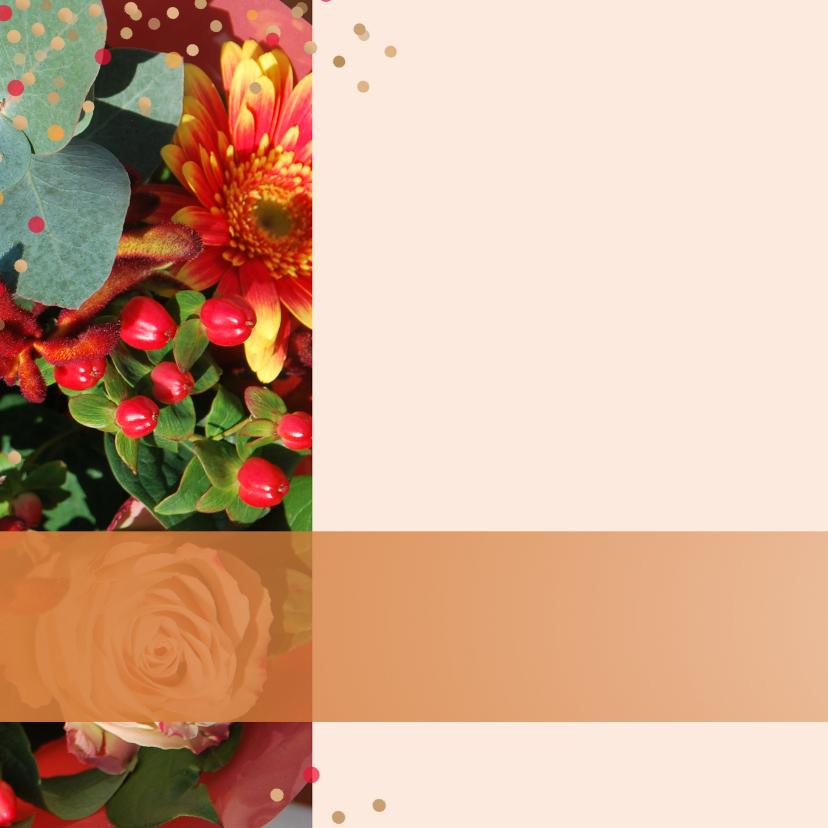 Verjaardagskaart herfstbloemen a 2